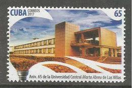 Cuba 2017 65th Anniversary Of Villa Clara University 1v MNH - Cuba