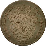 Belgique, Leopold II, 2 Centimes, 1870, TTB, Cuivre, KM:35.1 - 1865-1909: Leopold II