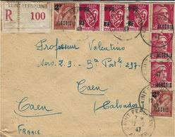1947- Enveloppe RECC.  De Saint-Ferdinand ( Alger ) ) Affr.  Composé à 14,50 F - Briefe U. Dokumente