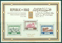 IRAQ BF N° 4 N Xx CAMPAGNE CONTRE LA FAIM 1963 Tb. - Iraq