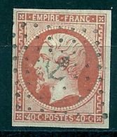 FRANCE - N° 16 - 40 CENTIMES JAUNE-ORANGE Oblitéré ANCRE - 1853-1860 Napoleone III