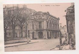 REIMS 51 MARNE - LE THEATRE - IMPRIMERIE LONGUET PARIS - VARIETE DE COUPE AU VERSO CARTE POSTALE - VOIR LES SCANNERS - Reims