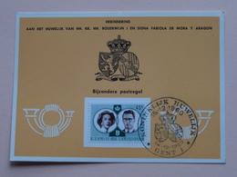 Herinnering Aan Het HUWELIJK Van BOUDEWIJN En FABIOLA De Mora Y Aragon - Anno 1960 : Stamp Gent 1 ( Voir Photo ) ! - Cartes Souvenir
