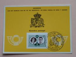 Herinnering Aan Het HUWELIJK Van BOUDEWIJN En FABIOLA De Mora Y Aragon - Anno 1960 : Stamp Antwerpen 1 ( Voir Photo ) ! - Souvenir Cards