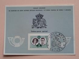 Souvenir De MARIAGE Van BOUDEWIJN En FABIOLA De Mora Y Aragon - Anno 1960 : Stamp ARLON 1 ( Voir Photo ) ! - Souvenir Cards