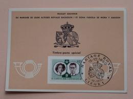 Souvenir De MARIAGE Van BOUDEWIJN En FABIOLA De Mora Y Aragon - Anno 1960 : Stamp LIEGE 1 ( Voir Photo ) ! - Cartes Souvenir