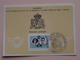 HERINNERING HUWELIJK Van BOUDEWIJN En FABIOLA De Mora Y Aragon - Anno 1960 : Stamp BRUGGE 1 ( Voir Photo ) ! - Cartes Souvenir