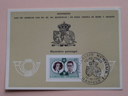 HERINNERING HUWELIJK Van BOUDEWIJN En FABIOLA De Mora Y Aragon - Anno 1960 : Stamp HASSELT 1 ( Voir Photo ) ! - Cartes Souvenir