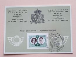 HERINNERING HUWELIJK Van BOUDEWIJN En FABIOLA De Mora Y Aragon - Anno 1960 : Stamp BRUSSEL 1 BRUXELLES ( Voir Photo ) - Souvenir Cards