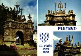 LA BRETAGNE EN COULEURS -29- LE CALVAIRE DE PLEYBEN - Pleyben