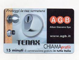Telecom - Scheda Chiama Gratis - 2004 - AGB - TENAX - 15 Minuti Di Conversazione Gratuita - NUOVA - (FDC7670) - Italy