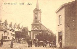 La Vallée Du Geer - Eben - L'Eglise (animée, Café, Attelages, Edition Henri Kaquet, Rare, 1925) - Bassenge