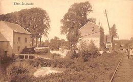 Eben - Le Moulin (animée, Café, Rails, Edition Henri Kaquet) - Bassenge