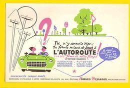 BUVARD  : Jouer A L'Autoroute  Edit. Dujardin - Automobile