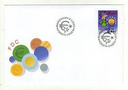 Enveloppe 1er Jour ALAND Oblitération MARIEHAMN 0201/2002 - Aland