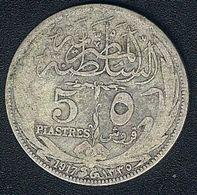 Ägypten, 5 Piastres 1917 H, Silber - Egypt