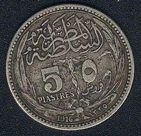 Ägypten, 5 Piastres 1916, Silber - Egypt