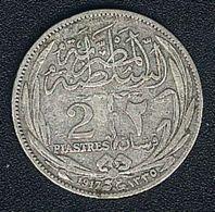 Ägypten, 2 Piastres 1917 H, Silber - Egypt