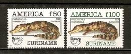 Surinam 1993 Upaep Caiman Set Complete MNH ** - Surinam