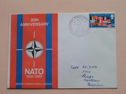 20th Anniversary NATO 1949 - 1969 BRITISH FORCES Postal Service : Stamp 1969 > Cdt Migo ( Zie/voir Foto's Voor Details ) - Militaria