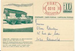 "19 - 32 - Entier Postal Chemins De Fer ""Wagon CFF..."" Non Oblitéré 1968 - Stamped Stationery"