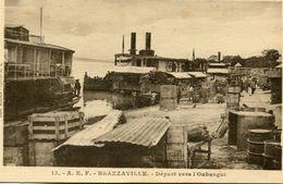 CONGO(BRAZZAVILLE) BATEAU A VAPEUR POUR OUBANGUI - Brazzaville