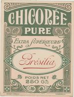 Etiquette CHICOREE PURE Brésilia 250gr  -  Format 10.5cm X 8cm - Labels