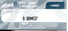 Ticket (carnet) Tramway Et Bus - Nantes - Loire Atlantique - France - Europa