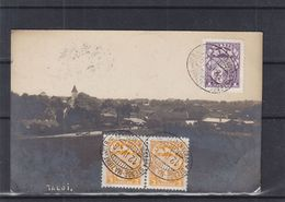 Lettonie - Carte Postale De 1926 - Oblit Ambulant Stende Mazirbe Un Otr - Exp Vers Archennes - Letonia