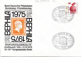 """Berlin Privat GZS-Umschl. PU 056 D2/002-a WSt.30(Pf) Rot """"BEPHILA 1975"""" SSt.19.9.1975 BERLIN 12 - Berlin (West)"""
