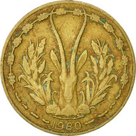 West African States, 10 Francs, 1980, Paris, TB+, Aluminum-Nickel-Bronze, KM:1a - Ivory Coast