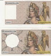 Lot De 3 Billets Echantillon / ATHENA - Specimen