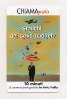 Telecom - Scheda Chiama Gratis - 2002 - SMAU 01 - 10 Minuti Di Conversazione Gratuita - NUOVA - (FDC7679) - [2] Sim Cards, Prepaid & Refills