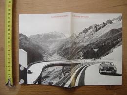 Dépliant Brochure Touristique LA SUISSE EN AUTOMOBILE 1968 - Dépliants Turistici