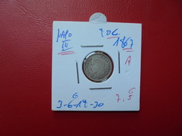 "NAPOLEON III. 20 Centimes (ARGENT) 1867 ""A""  QUALITE:VOIR PHOTOS - Francia"