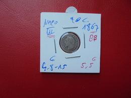"NAPOLEON III. 20 Centimes (ARGENT) 1867 ""BB""  QUALITE:VOIR PHOTOS - Francia"