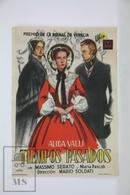 1951 Cinema/ Movie Advertising Leaflet - Piccolo Mondo Antico - Alida Valli,  Massimo Serato,  Ada Dondini - Cinema Advertisement