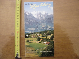 Dépliant Brochure Touristique SUISSE BRUNIG HASLIBERG SCHWEIZ SWITZERLAND 1967 - Dépliants Turistici