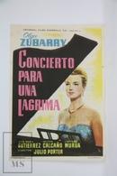 1955 Cinema/ Movie Advertising Leaflet - Concierto Para Una Lágrima - Perla Alvarado,  Héctor Calcaño,  Aurelia Ferrer - Cinema Advertisement