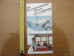 Dépliant Brochure Touristique SUISSE GSTAAD Glacier Des Diablerets SWITZERLAND SCHWEIZ - Dépliants Turistici