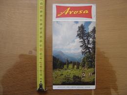 Dépliant Brochure Touristique SUISSE AROSA Grisons SWITZERLAND SCHWEIZ - Dépliants Turistici
