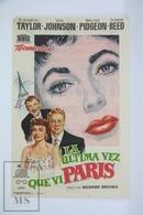 1954 Cinema/ Movie Advertising Leaflet - The Last Time I Saw Paris - Elizabeth Taylor,  Van Johnson,  Walter Pidgeon - Cinema Advertisement