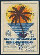 Gutschein 75 Pfennig Deutsch-Hanseatischer Kolonialgedenktag Swakopmund - Germany