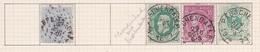 Belgique COB 18 30(x2) 45 46 Oblitérés Passchendaele. Cacher Affr. Insuff. Sur Le 18. - Unclassified