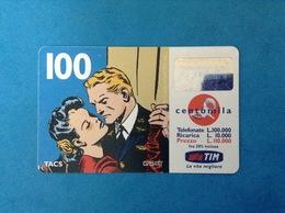 ITALIA SCHEDA TELEFONICA RICARICARD TIM USATA USED PHONE CARD - FLASH GORDON 100.000 LIRE SCAD. DIC 2000 - Italy