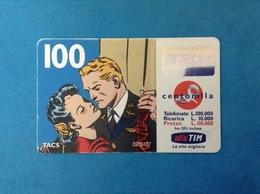 ITALIA SCHEDA TELEFONICA RICARICARD TIM USATA USED PHONE CARD - FLASH GORDON 100.000 LIRE SCAD. GEN 2001 - Italy