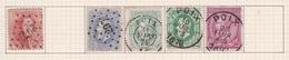 Belgique COB 16 31 30(x2) 46 Oblitérés Poix - Unclassified