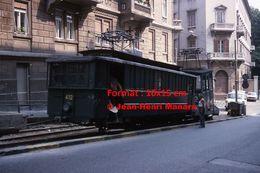 Reproduction D'une Photographie Du Tramway Funiculaire Opicina à Trieste En Italie En 1976 - Reproductions