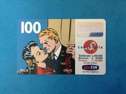ITALIA SCHEDA TELEFONICA RICARICARD TIM USATA USED PHONE CARD - FLASH GORDON 100.000 LIRE SCAD. FEB 2001 - Italy