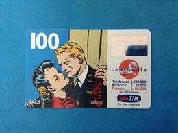 ITALIA SCHEDA TELEFONICA RICARICARD TIM USATA USED PHONE CARD - FLASH GORDON 100.000 LIRE SCAD. LUG 2001 - Italy